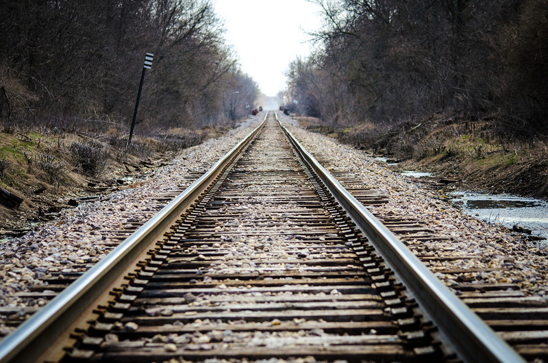 Image of Railroad Tracks in spring